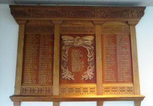 University of Tasmania Honour Board 1914-1918